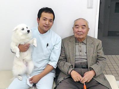 獣医師だった祖父と一緒に